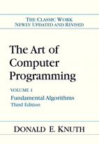 Book cover for The Art of Computer Programming (volume 1)